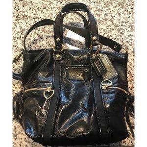 Coach poppy spotlight tote handbag